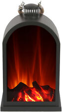 El Fuego Laterne mit LED Flammeneffekt Dekolaterne Gartenlicht Windlicht