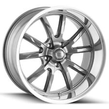 "Staggered Ridler 650 Front:18x8,Rear:18x9.5 5x4.75"" +0mm Gunmetal Wheels Rims"