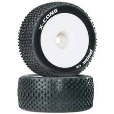 Duratrax 1/8 X-Cons Truggy Tire Mounted 1/2 Offset (2) DTXC3662