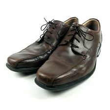 Clarks Mens Size 10M Oxfords Verro Real Dress Shoes Brown Leather Lace Up