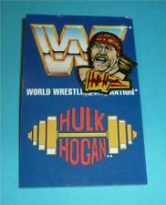 "WWF WWE Wrestling Pin Serie 1 ""HULK HOGAN"" 1993 mit Karton wcw aus den 1990ern"