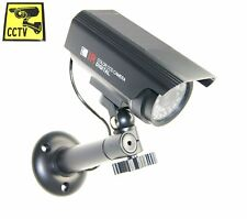 Solar Outdoor Dummy Fake LED Flashing Security Camera CCTV Surveillance Cam