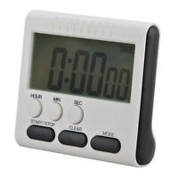 Digital LCD Kurzzeitmesser Küchenuhr Kurzzeitwecker Eieruhr Timer Magnet ei I7C5
