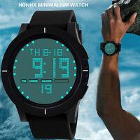 Resistente Al Agua Hombres Led Digital Cuarzo Reloj de Pulsera Militar