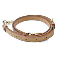 LOUIS VUITTON Leather Shoulder Strap 104-119cm LV Auth ar2219