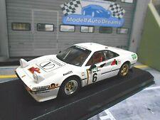 FERRARI 308 GTB Rallye Gr.4 Elba 1985 #6 Roggia totip valentino Eurit Best 1:43