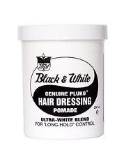 Black and White Hair Wax Genuine Pluko HAIR DRESSING POMADE 200ml