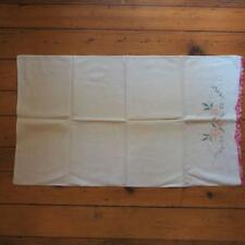 Vintage Embroidered Pillowcase 1950's