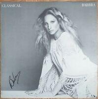 Barbra Streisand Classical signierte LP signed Vinyl Original Autogramm