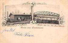 Krummesse Gasthaus Brauerei, Brücke über Elbe - Trave - Kanal Postkarte 1900