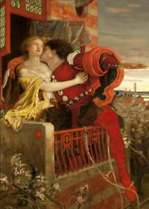 Ford Madox Brown Romeo and Juliet Giclee Art Paper Print Poster Reproduction
