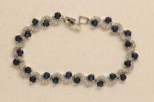 2ct Blue and White  Diamond Tennis Bracelet In 14k White Gold Finish