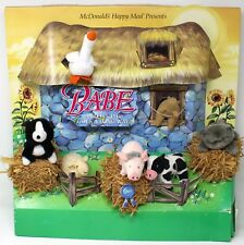 Babe The Pig McDonalds Happy Meal 95 Display Dog Cat Sheep Cow Goose Squirrel