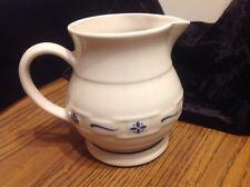 Longaberger Pottery 1Qt Juice Pitcher, blue woven, great