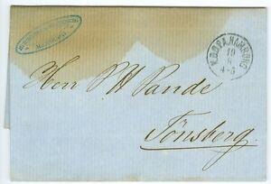 DENMARK/NORWAY: Unpaid cover Hamburg to Norway 1862. (3)