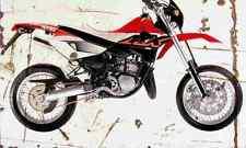 APRILIA MX125 2005 Envejecido Vintage sign A3 Grande Retro