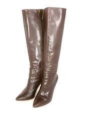 Womens Nine West - Getta - Leather High Heeled Boot - Dark Brown - Size 7-1/2