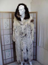 EXCELLENT WHITE & BROWN LAMB FUR COAT FOX FUR HOOD MAN MEN SZ 38-40 $805 OFF