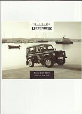 LAND ROVER DEFENDER 90  110  130   PRICE LIST SALES BROCHURE JUNE 1995