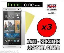 3x hq cristal clair housse protection écran lcd film guard pour HTC ONE MINI M4