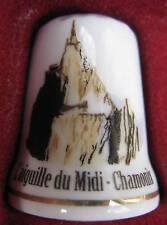 Dé à coudre Aiguille du Midi Chamonix Thimble Fingerhut #24