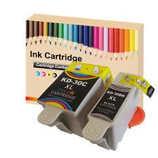 2 Ink Cartridges for  Kodak 30 XL Black & Colour  for ESP C110 C310 C315 Printer