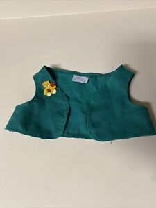 2007 Build - A - Bear Lapel Pin Yellow With Autumn Fall Leaves & Girl Scout Vest
