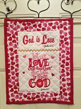 Christian Wall Hanging 12 x 14 God is Love 1 John 4:7-8
