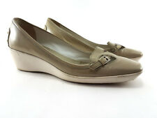 TOD's Beige Leather Slip On Pumps, med heels, Women's Shoes Size UK 5/EU 38