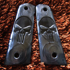 NEW BLACK PEARL FOR COLT 1911 GRIPS,KIMBER,CLONE,TAURUS GRIP BLACK MINI PUNISHER