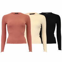 Ladies Jumper Brave Soul Womens Knitted Ribbed Sweater Pullover Lightweight New