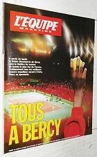 EQUIPE MAGAZINE N°471 1990 TENNIS BERCY SAMPRAS AGASSI FOOTBALL BOSSIS DUBROCA