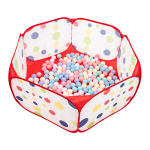 Portable Kids Outdoor Game Play Children Toy Ocean Ball Pit Pool Red Side