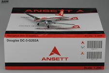 Ansett Douglas DC-3 Reg:VH-ABR JC Wings 1:200 Diecast Models XX2527