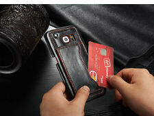 For Samsung Galaxy S6 Edge - Back Kickstand Case-Brown
