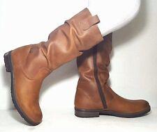 "New $140 VADO Women""s Boots Narrow Tan LEATHER Waterproof Size 7,5 USA/39 EURO"