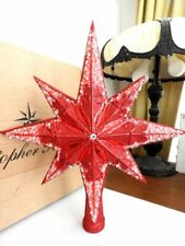 Christopher Radko STELLAR RED RUBY Star Tree Topper  Ornament - MINT / BOX!
