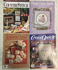 4- Cross Stitch Magazines- 2-1989, 1-1990, 1-1988 Premium Issue