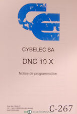 Cybelec SA DNC 10 X, Notice de Programmation, French Programming Manual 1991