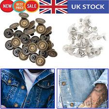 10x17mm Jeans Buttons Denim Jackets Replacement Brass Centre Press Hammer DIY