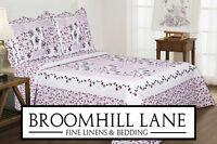 Brand New! King Size + Free Shams Floral Lilac Lavender Patchwork Bedspread Set