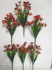 Deko 6 x künstlich Butterblume Busch Seidenblumen Basteln Floristik wie echt Neu