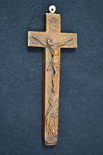 Schnitzerei, Reliquienkreuz, Jesus am Kreuz, Holz, Horn, Mitte 18. Jhdrt, barock