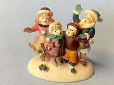 Christmas Village Accessory - Mom Dad & Kids Caroling Family - Dept 56/ Lemax