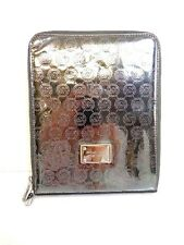 Michael Kors MIRROR METALLIC IPAD Zip Around Patent Leather Case Nickle