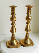 Vintage Brass Candlesticks 30cm tall