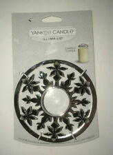 Yankee Candle Illuma-Lid - Chrome Snowflake Design - NEW