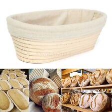 25cm Oval Rattan Cane Bread Proofing Liner Basket Durable for DIY Handmade Bread