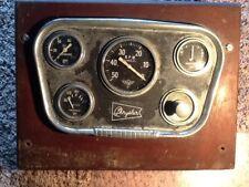Vintage Wood Chris Craft Motor Boat Chrysler Dash Board S/W Gauge Cluster 1950's