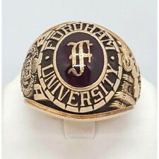 Fordham University 1980 Class Ring CBA JOSTEN'S 14K Gold, 35.4g Size 12.5 (590)